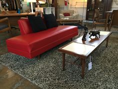 Retro daybed sofa. Newly upholstered. More info? Email midmodcollective@gmail.com