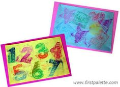 Shape Rubbings craft - use sand paper or other fun textures - stick on styrophnoe w/ masking tape