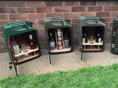 Been working on a selection of Jerry can mini bars this week, here a few.