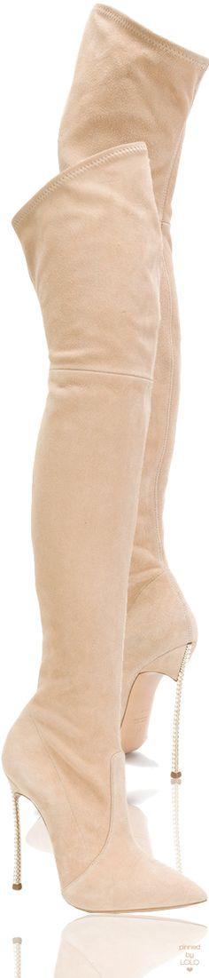 CASADEI thigh length stiletto boots