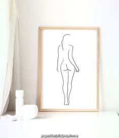 Female figure drawing PRINTABLE Line art Female body Woman body outline Woman from behind Sketch wall art Female nudity poster by BlekPrints on Etsy Body Drawing, Woman Drawing, Line Drawing, Sketch Drawing, Drawing Art, Contour Drawing, Poster Drawing, Drawing Animals, Figure Sketching