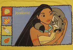Vintage Pocahontas Flannel standard pillowcase