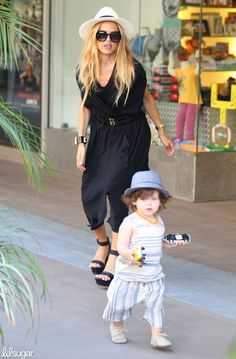 We've seen lots of celebs who wear mommy-and-me styles with their daughters, but only Rachel Zoe could rock a mom-and-son matching look this chic!