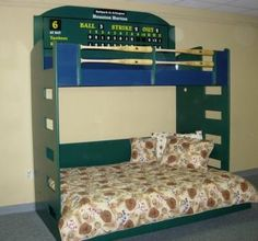 This is a combination of our famous Baseball bed, a loft bed, and the Locker Murphy bed. Kids Bedroom, Bedroom Ideas, Boy Bedrooms, Kids Rooms, Baseball Bed, Murphy Bed, Awesome Bedrooms, New Room, Girl Room