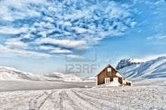 Cabin wood in the Arctic
