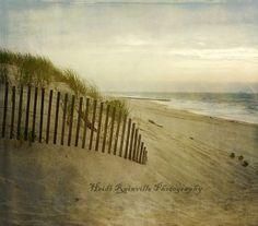 5x5 Photograph  Beach Sand Dune Ocean Print LBI by heidirainville, $25.00