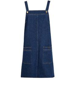 Victoria Beckham Denim Blue Denim Pinafore Dress
