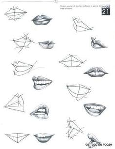 7 Drawing Tips for Beginners Pencil Art Drawings, Art Drawings Sketches, Lips Sketch, Mouth Drawing, Drawing Drawing, Sketches Tutorial, Anatomy Drawing, Drawing Techniques, Art Sketchbook