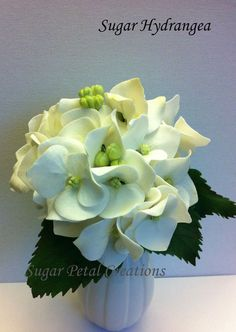 gumpaste hydrangea tutorial - Google Search