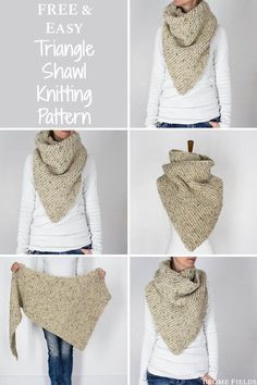 Easy Knitting Projects, Easy Knitting Patterns, Knitting For Beginners, Free Knitting, Baby Knitting, Scarf Patterns, Knitting Machine, Finger Knitting, Knitting Tutorials