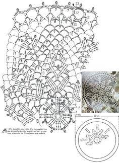 Crochet Doily Diagram, Crochet Doily Patterns, Crochet Mandala, Thread Crochet, Crochet Doilies, Crochet Yarn, Crochet Flowers, Crochet Table Runner, Lace Doilies