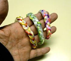 Make it easy crafts: Recycled plastic bag braided bracelet