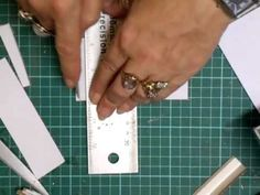 """Quick Box Tutorial, Part 1 - jennings644.  Making a box using structure strips, which are pieces of heavy paper 1"""" wide, scored down the middle, and double-stick tape down the middle of that. Very cool"""