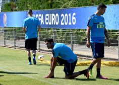 "Eder of Italy looks on prior to the training session at ""Bernard Gasset"" Training Center on June 9, 2016 in Montpellier, France."