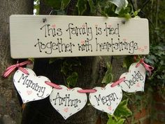 Handmade Wooden Plaque This family is tied together by bloominfab, £20.00 or www.bloominfab.co.uk