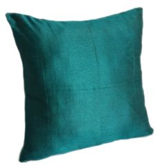 Solid Teal Pillow Cover Plain Teal Pillow by TheWhitePetalsDecor