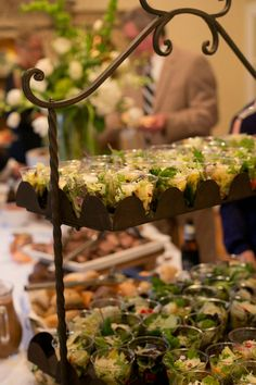 Serving a salad on a buffet can be messy, but not when we serve it individually. | Photo by Ann Wade Photography