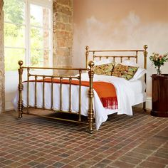 Victorian style Hardy pure brass luxury bed