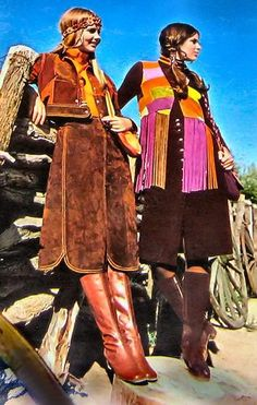 Colleen and unidentified model - Seventeen Magazine - August 1970