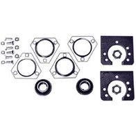 """AZ1861B - Live Axle Bearing Kit with 3 Hole Flangette for 1"""" Standard Axle"""