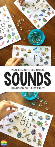 Initial Alphabet Sound Mats - hands-on way to practice hearing beginning letter sounds | you clever monkey