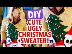 How to Make a Christmas Sweater DIY Projects Craft Ideas & How To's for Home Decor with Videos