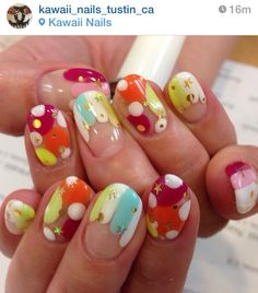 Colorful Japanese nails