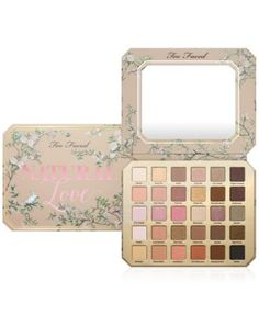 Too Faced Natural Love Eye Shadow Palette $59.00 A limited-edition eye shadow palette featuring the ultimate library of 30 natural must-have shades. A blockbuster combination of stunning shades from Too Faced bestsellers Natural Eyes, Natural Matte, Natural At Night and, of course, never-before-seen neutrals.