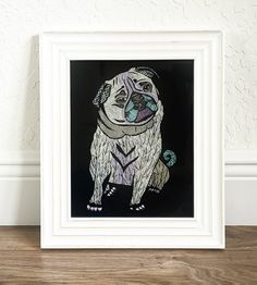 Poster Print  Ares The Pug II   8x10 or 11x14 by PomGraphicDesign