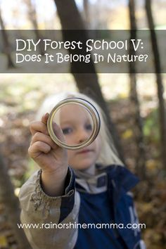 DIY Forest School: Does It Belong In Nature? Fun outdoor activity for kids from Rain or Shine Mamma.