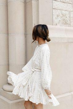 Cute white dress for summer - Fashion Chic Summer Outfits, Spring Summer Fashion, Casual Outfits, Style Summer, Summer Chic, White Outfits, Casual Dresses, Mode Outfits, Fashion Outfits