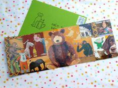 Handmade collage card for Naëm's 3rd birthday, 2015.