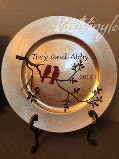 Decorative Charger Plate Faith Hope and Love by VastVinyl on Etsy | .VastVinyl.etsy.com | Pinterest | Vinyl designs Adhesive vinyl and Paper towels : decorative charger plates - pezcame.com