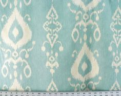 Tullahoma ice cap light blue ikat curtain panels 25 inches wide you choose length 63, 72 or 84