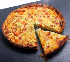 Italian pie with Parma ham and basil - Recipe – Italian Pie with Parma Ham and Basil Basil Recipes, Pizza Recipes, Italian Recipes, Quiches, Quiche Chorizo, Pizza Cake, Quiche Lorraine, Empanadas, How To Eat Better