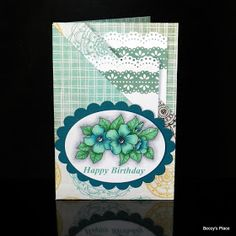 This card is perfect for occasions when you want to send someone a gift card, money or even a special photograph.  The two pockets folded i...
