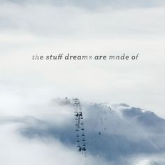 The stuff dreams are made of........ski lift above the clouds #inspiration #snowboarding #snowboard
