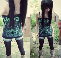 Vivi Bunnycore emo scene outfit by ViviBunnyCore. on - İnteresting Hair İdeas Here Cute Scene Girls, Cute Emo Girls, Scene Kids, Scene Outfits, Emo Outfits, Casual Outfits, Diesel Punk, Psychobilly, Alternative Fashion Grunge