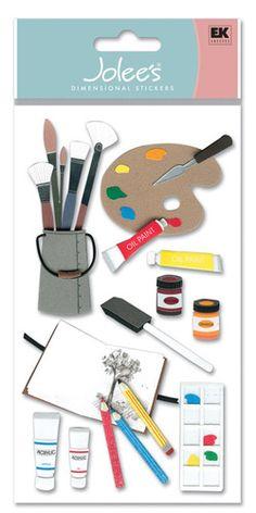 Art Supplies Foam  Stickers - Jolee's Boutique