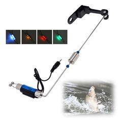 De pêche Alarme Morsure De Pêche De Fer Hanger Swinger Lumineux LED Indicateur De Pêche S'attaquer Outils Vente Chaude