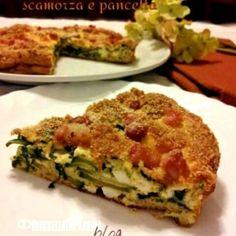Frittata croccante con zucchine, scamorza e pancetta