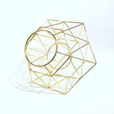 Brass Geometric Wine Bottle Holder | Available at Twisted Goods! |