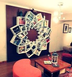 Cheap diy home projects staggering easy home decor simple home decorating ideas new design ideas cheap . cheap diy home projects rustic home decor Easy Home Decor, Cheap Home Decor, Home Decoration, Wall Decorations, Home Decor Hacks, Ikea Boxes, Wall Bookshelves, Book Shelves, Bookshelf Design
