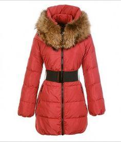 Moncler Women s Sauvage Red Coat  340.20 Givenchy Jacket, Manteau Long, Long  Coats, Long fb249b030b7