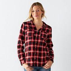 Women's SONOMA Goods for Life™ Plaid Flannel Shirt