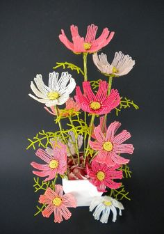 Cosmos - French Beaded Flowers