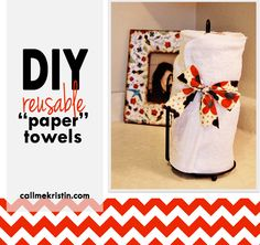 "DIY reusable ""paper"" towels"