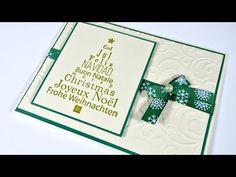 Christmas Cards #2 | Tarjeta Fácil y Rápida. Árbol de Navidad - YouTube