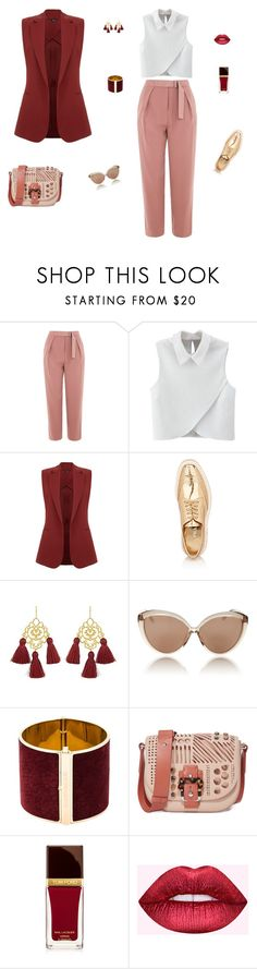 """Shopping day!"" by mariagraziatrotta ❤ liked on Polyvore featuring Topshop, WithChic, Theory, Prada, Marte Frisnes, Linda Farrow, Dsquared2, Paula Cademartori, Tom Ford and Dreamgirl"