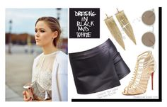 """""""Cross0ver Faux Leather Skirt-Pants (Black)."""" by stylebookclosetcom ❤ liked on Polyvore featuring Christian Louboutin, Kenneth Jay Lane and Oliver Peoples"""
